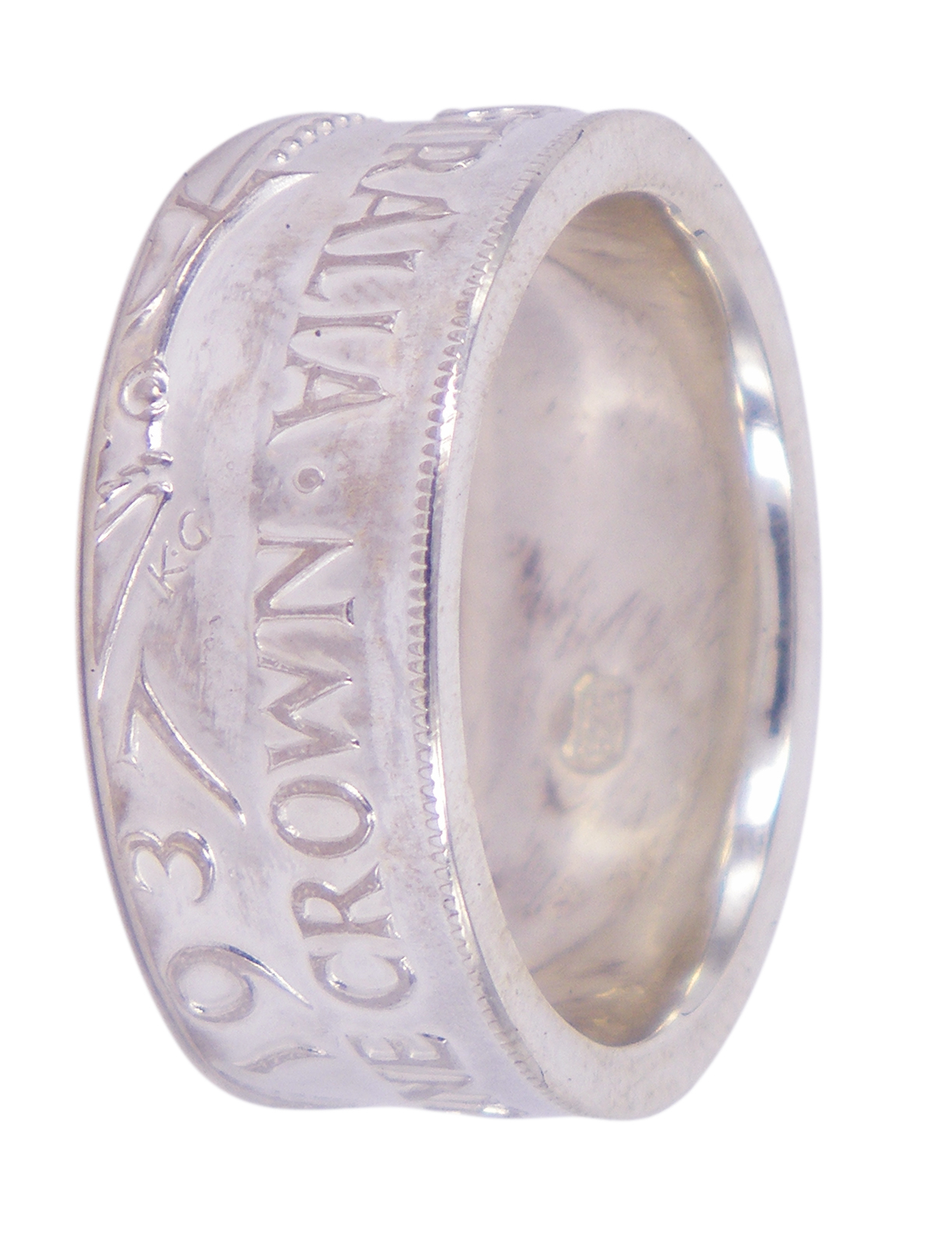 1937 Crown Large Polished Ring | Lord Coconut Pertaining To Most Recent Polished Crown Rings (View 2 of 25)
