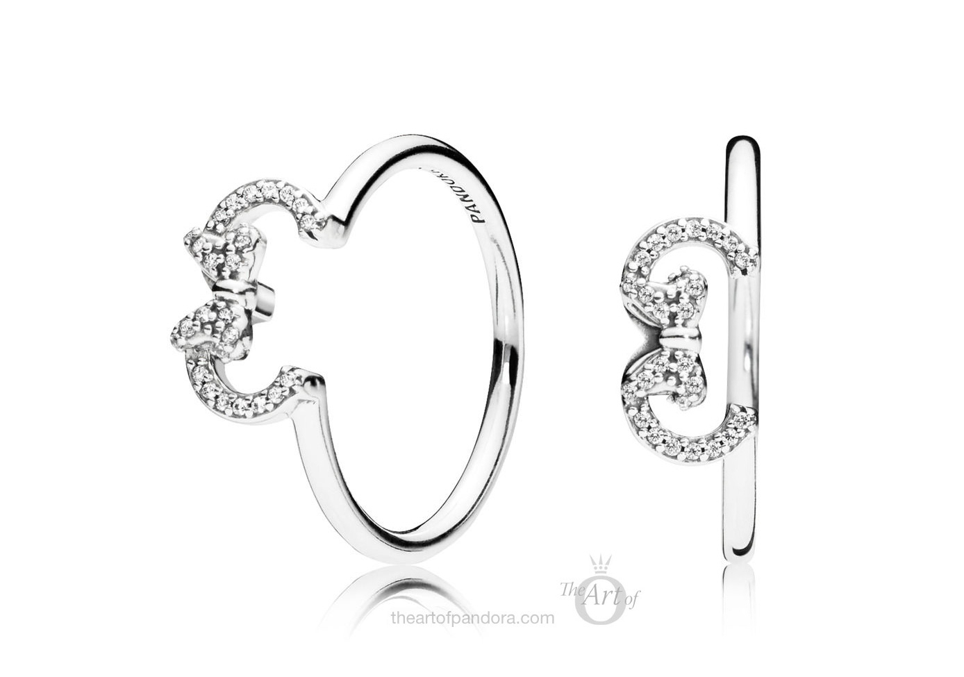 197509Cz Pandora Disney Minnie Silhouette Ring – The Art Of Pandora Pertaining To 2018 Disney Minnie Silhouette Rings (Gallery 1 of 25)