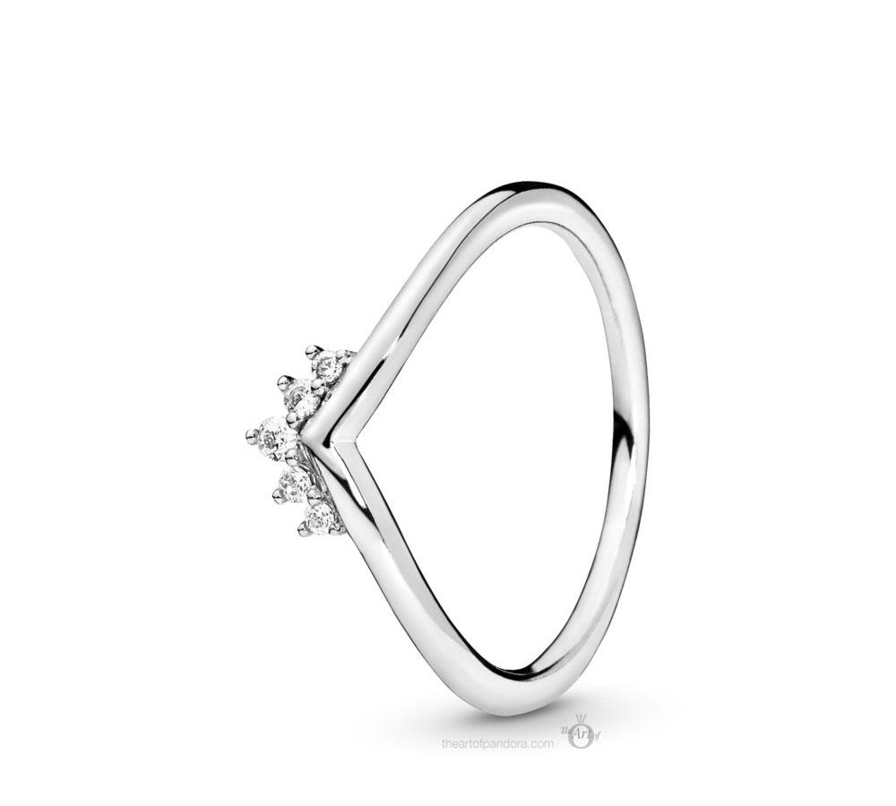 198282cz Pandora Tiara Wishbone Ring – The Art Of Pandora | More For 2018 Tiara Wishbone Rings (View 3 of 25)