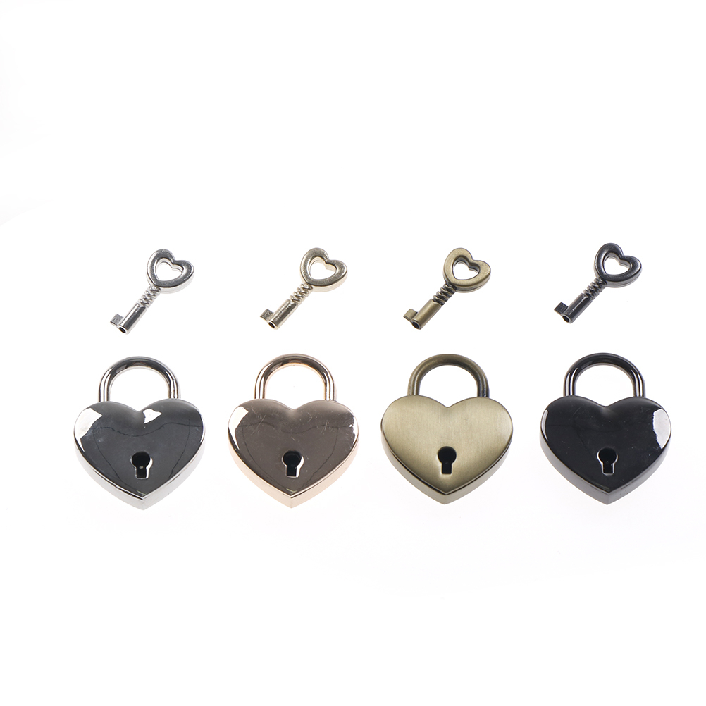 1Pc New Vintage Car King Ring Padlock Heart Shape Padlock Key Tiny Suitcase  Crafts Lock Set Lovers Heart Locks Gifts Presents In Key Rings From Pertaining To Best And Newest Heart Shaped Padlock Rings (Gallery 16 of 25)