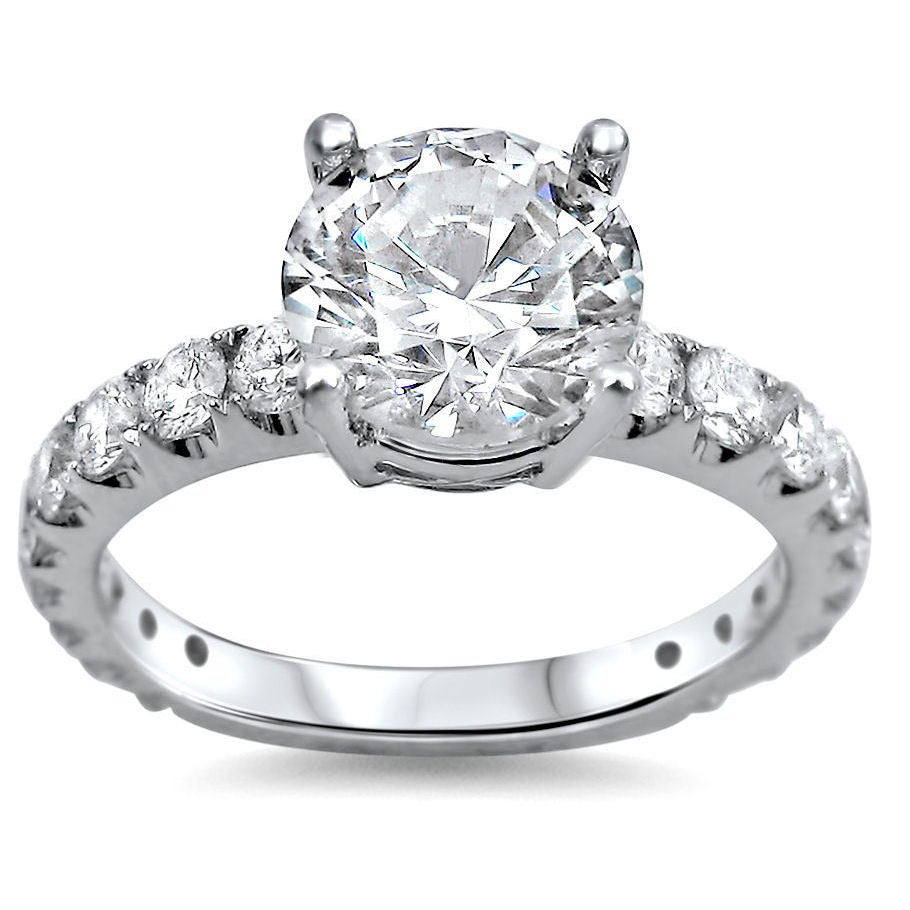 2 To 2.5 Carats Engagement Rings | Shop Online At Overstock Inside 2020 Enhanced Blue Diamond Vintage Style Anniversary Bands In White Gold (Gallery 22 of 25)