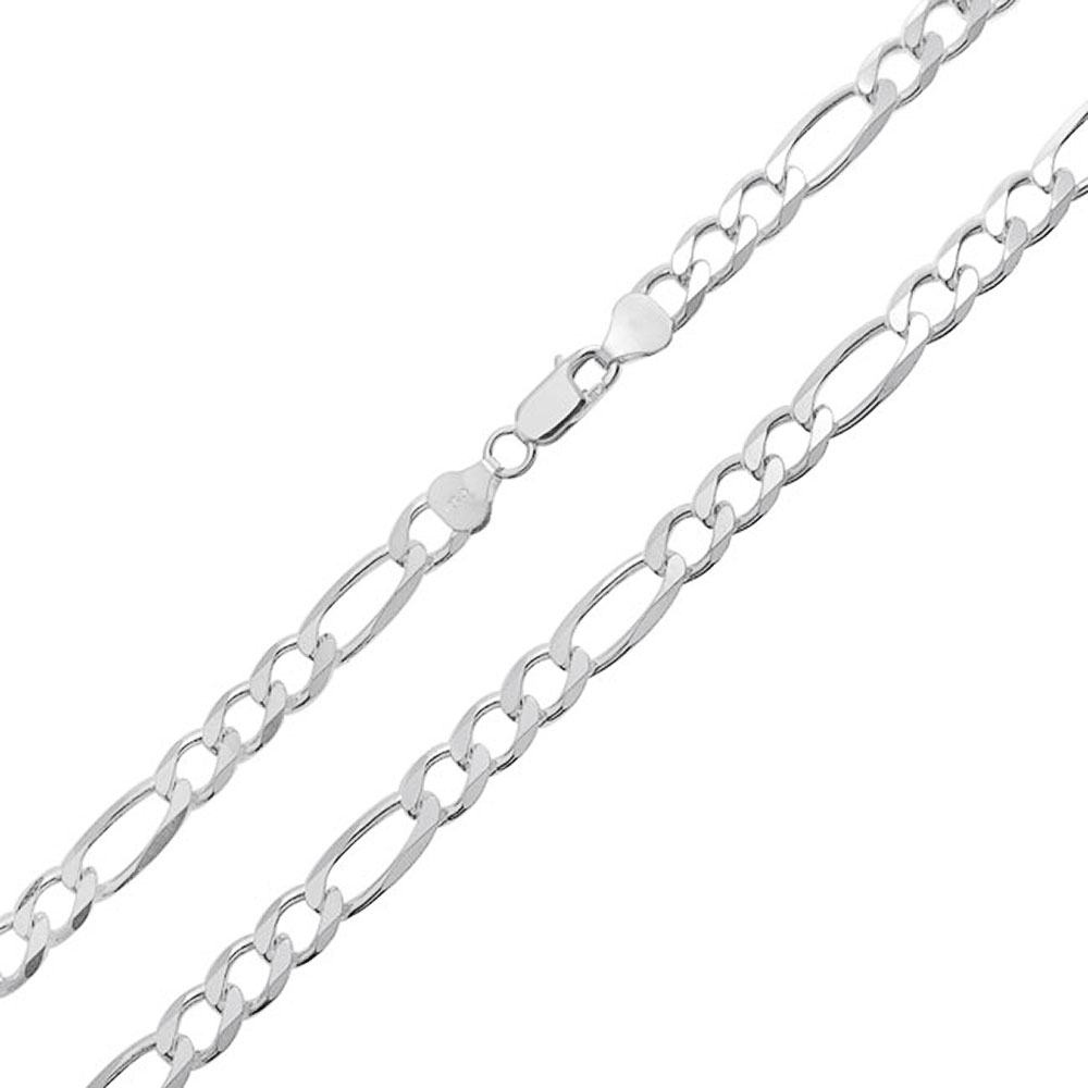 200 Gauge Heavy Solid Mens 925 Sterling Silver Figaro Chain Necklace For  Men Made In Italy 16 18 20 22 24 Inch With Best And Newest Silver Chain Necklaces (View 1 of 25)