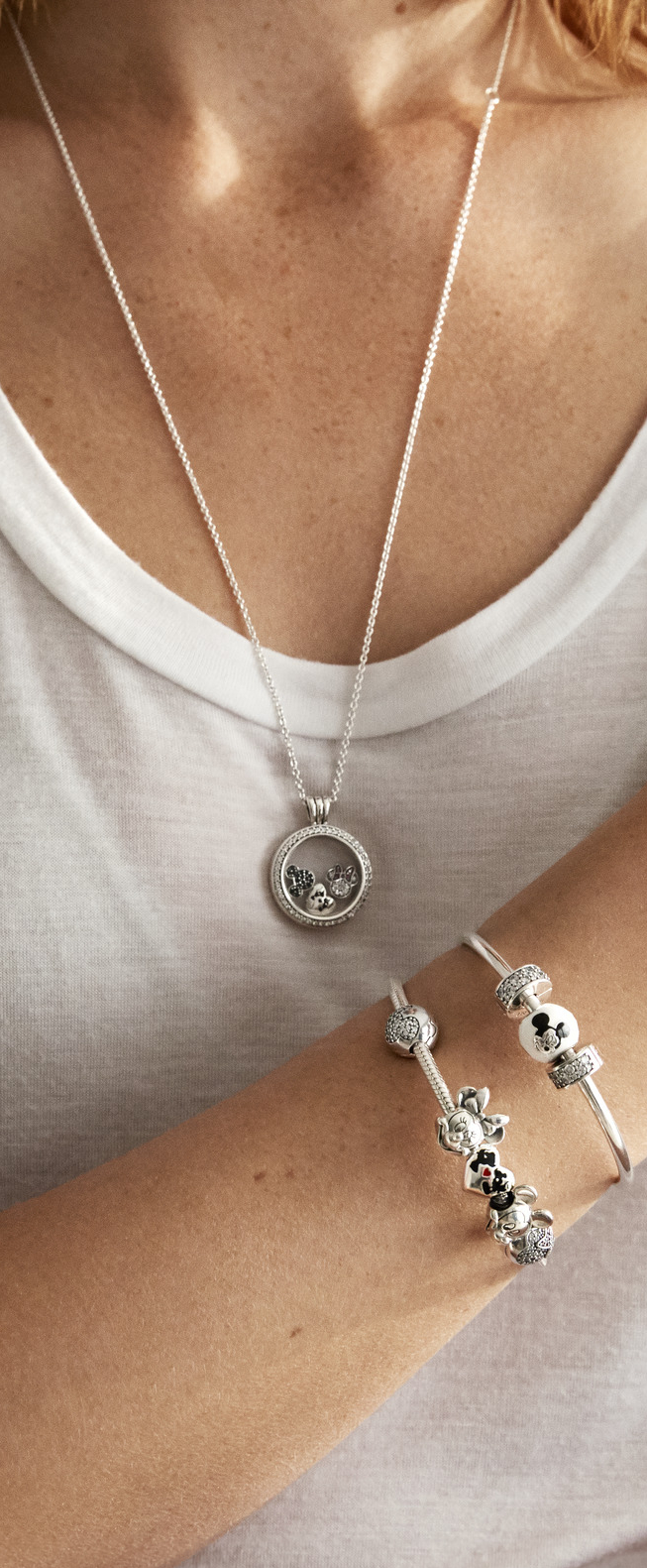 2018 Silver & Gold Jewelry Collection | Disney In 2019 | Pandora For Best And Newest Disney Mickey Floating Locket Necklaces (Gallery 19 of 25)