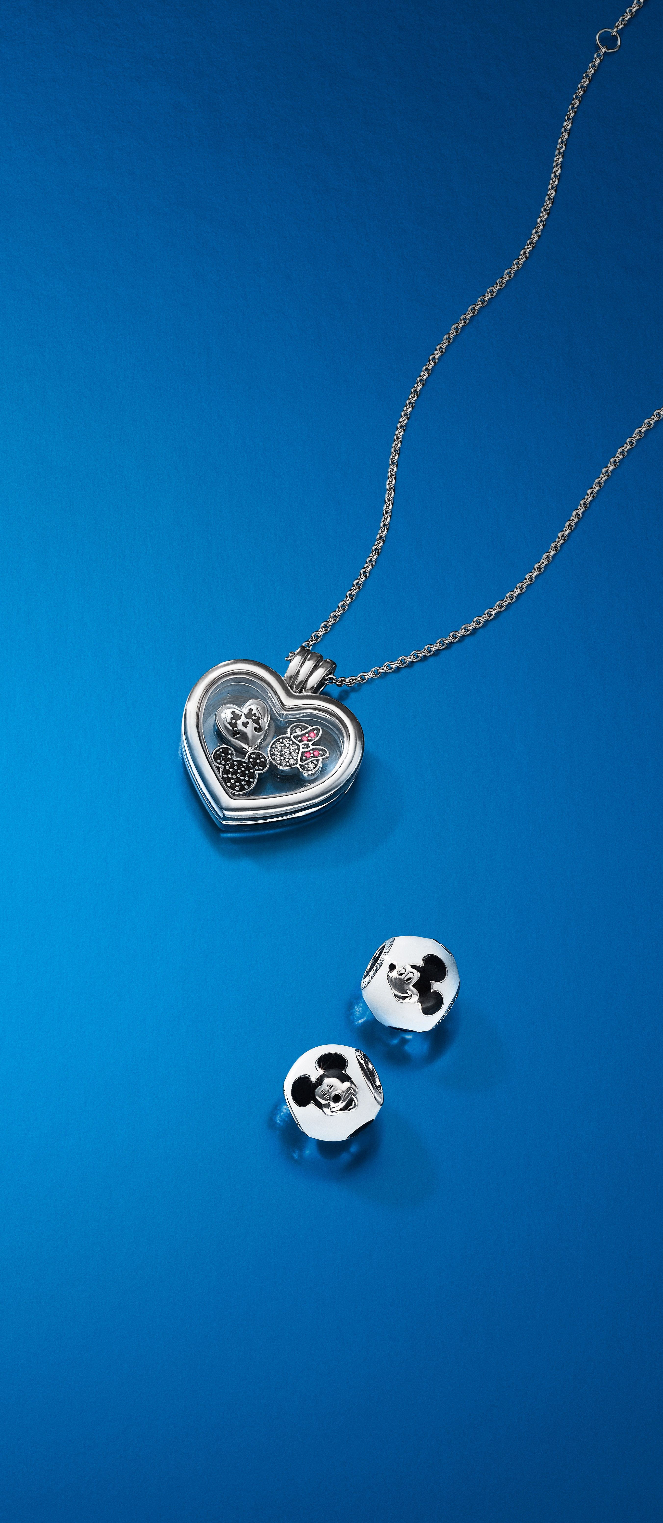 2018 Silver & Gold Jewelry Collection | Disney X Pandora In 2019 Regarding Best And Newest Disney, Sparkling Minnie Icon Petite Locket Charm Necklaces (View 9 of 25)