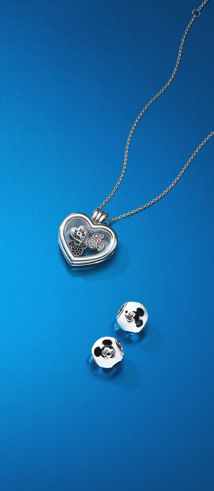 2018 Silver & Gold Jewelry Collection In 2019 | Pandora And Other Pertaining To Latest Disney Mickey Floating Locket Necklaces (View 10 of 25)