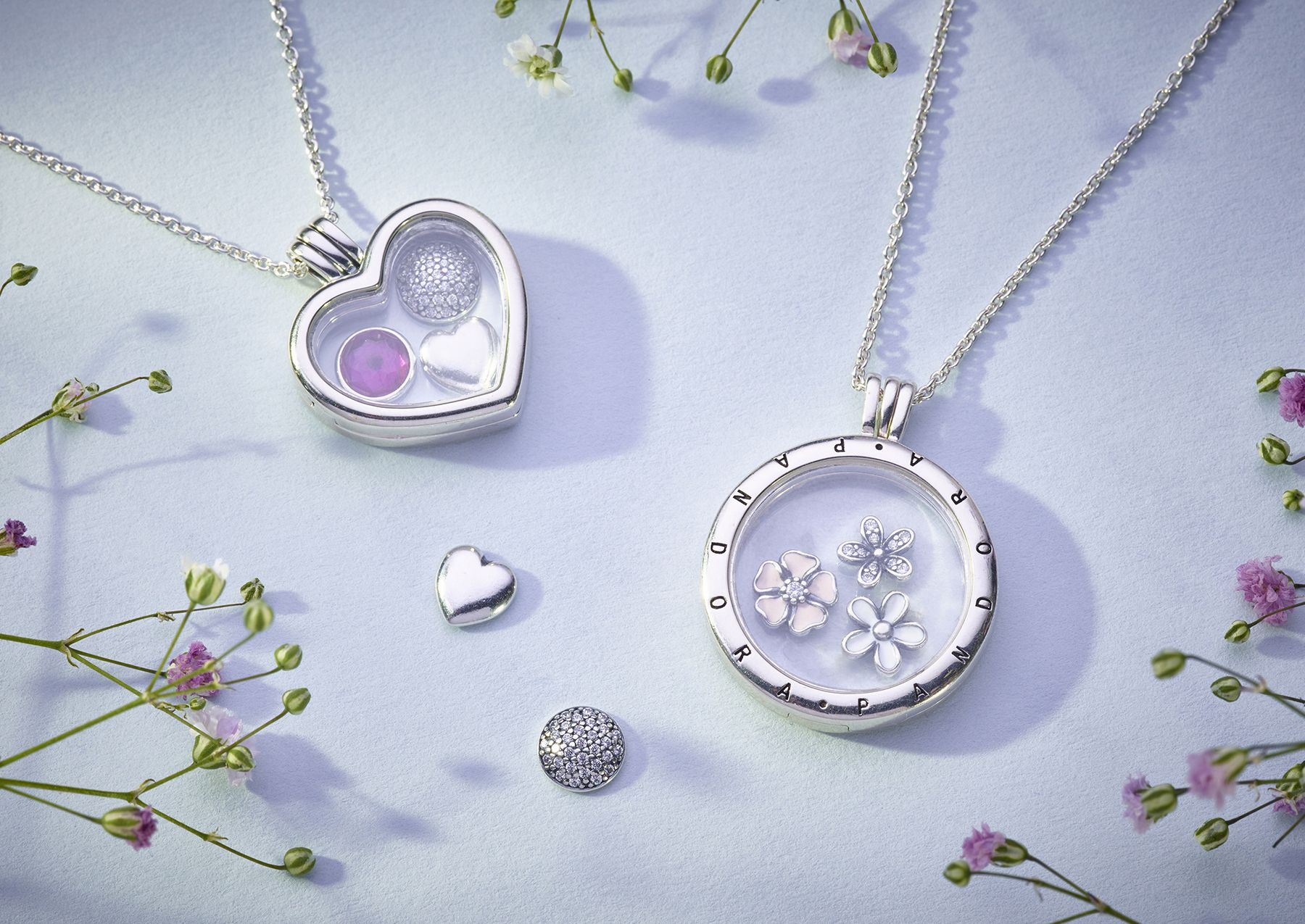 2018 Silver & Gold Jewelry Collection | Pandora Lockets In 2019 Throughout Recent Classic Flower Locket Element Necklaces (Gallery 15 of 25)