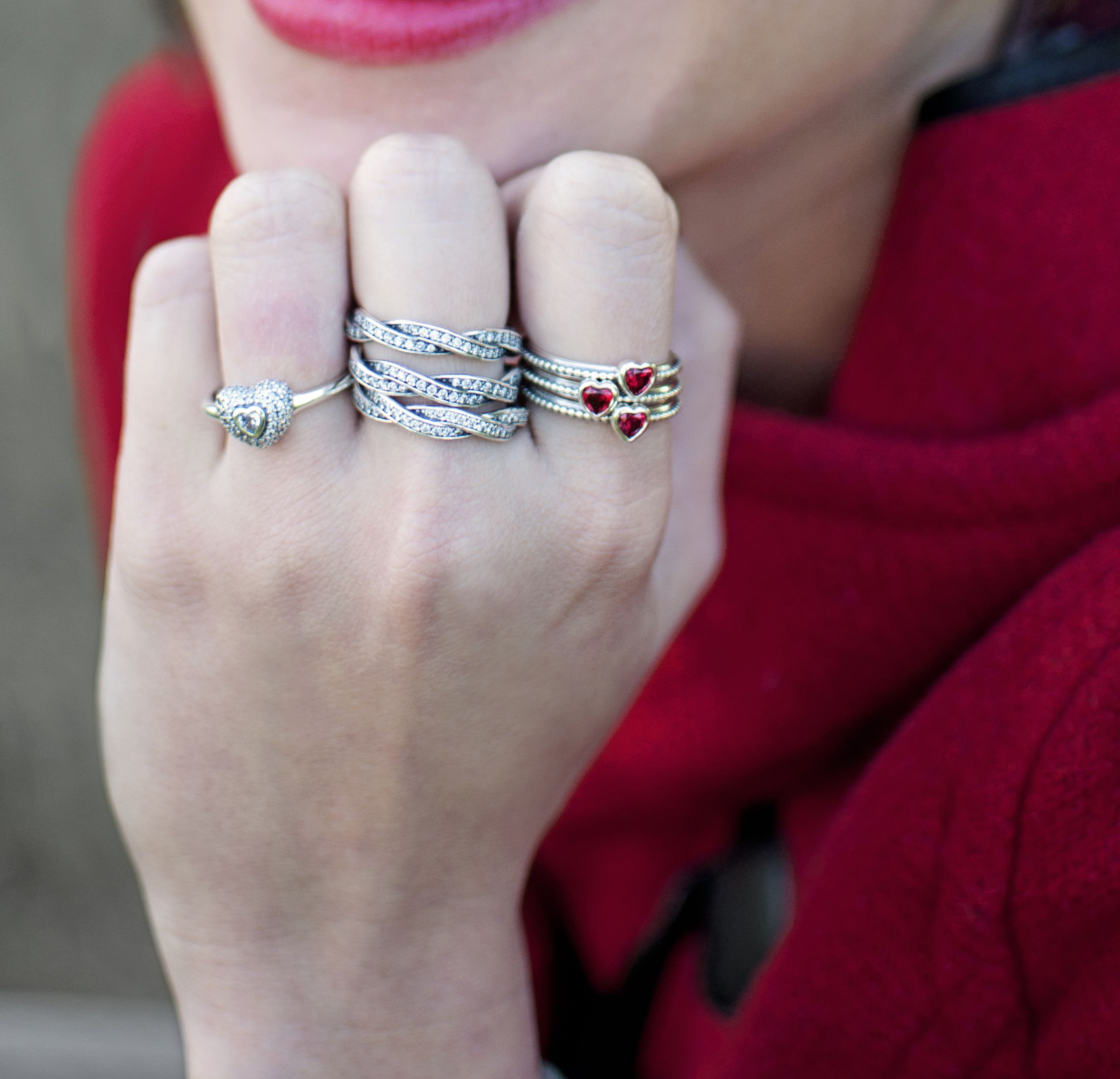 Featured Photo of Sparkle & Hearts Rings