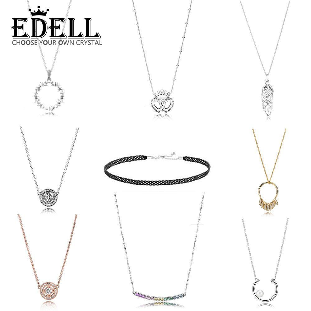 2019 Edell 100% 925 Sterling Silver Circle Of Seeds Pearl Shards Of Sparkling Interlocked Crown Hearts Floating Grains Necklace From Haoyunduo, For Recent Crown & Interwined Hearts Pendant Necklaces (View 10 of 25)