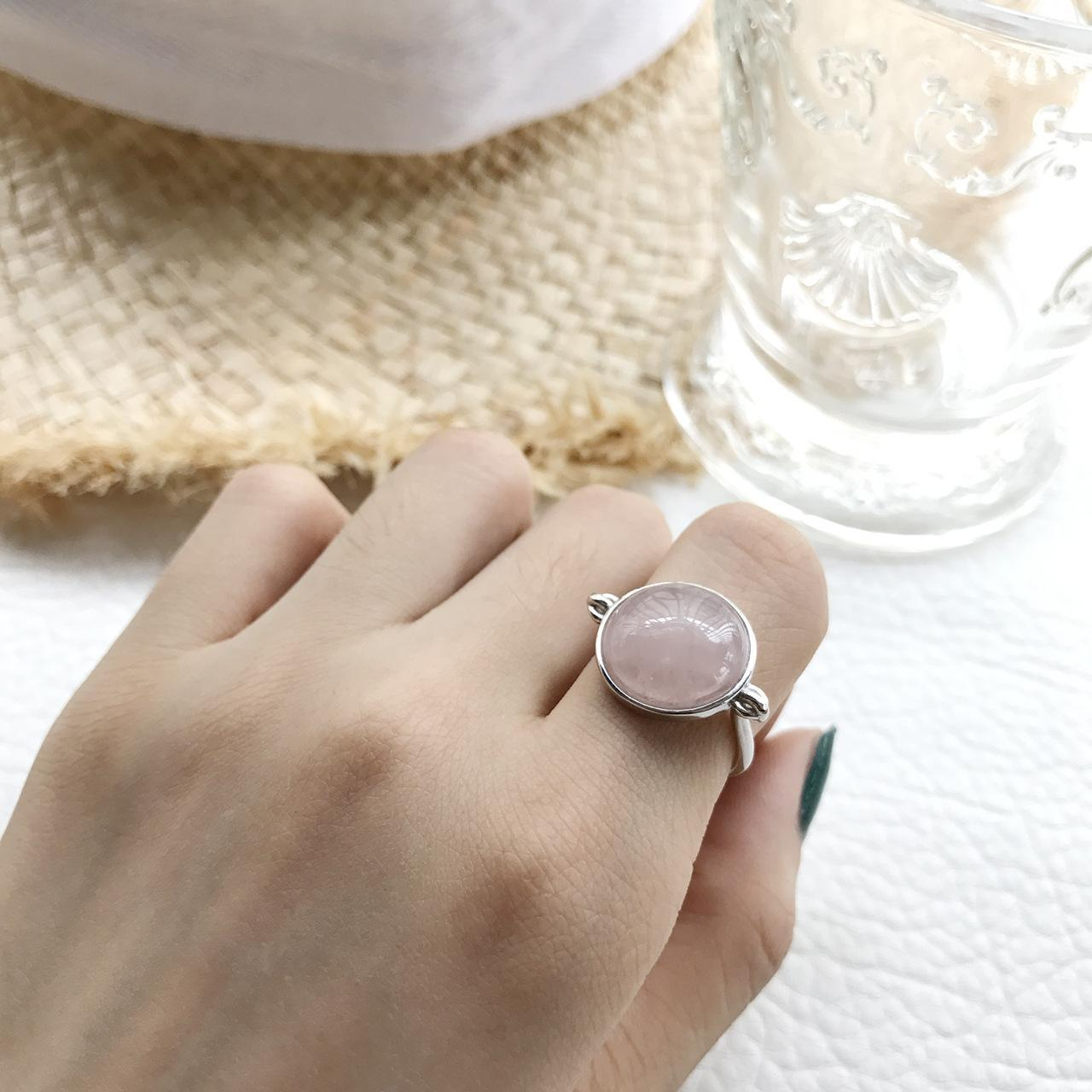 2019 Genuine 925 Sterling Silver October Droplet, Opalescent Pink Crystal  Finger Ring Women Wedding Jewelry From Go888Store, &price; | Dhgate In Recent Opalescent Pink Crystal October Droplet Pendant Necklaces (Gallery 19 of 25)