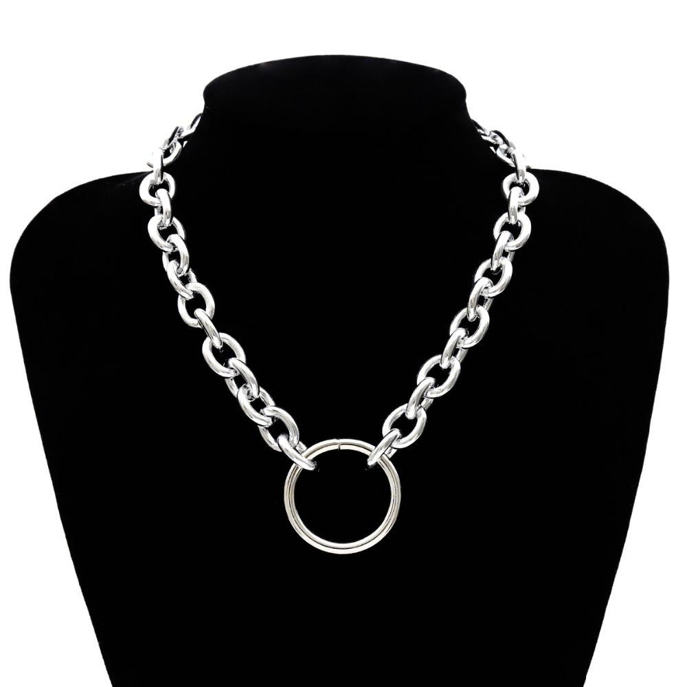 2019 Gothic Necklace Chain Del Choker Rock Circle Declaration Necklace For Gothic Women Jewelry Vintage Collier Female Jewelry Fashion Inside Most Recent Vintage Circle Collier Necklaces (Gallery 1 of 25)