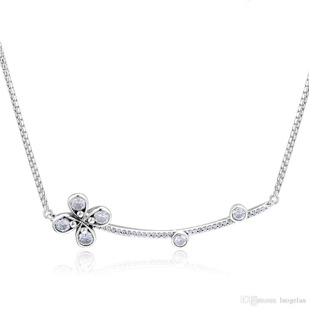 2019 Spring New Arrival Four Petal Flower Necklaces 925 Sterling Silver  Necklace Pendants Fashion Pendant Fits For Women Jewelry Making With Regard To 2019 Four Petal Flower Necklaces (Gallery 1 of 25)