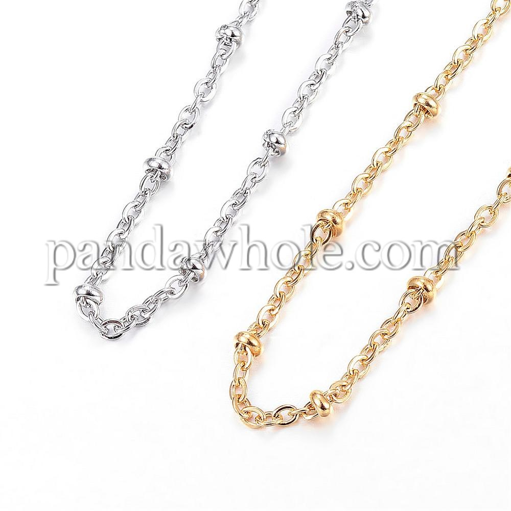 304 Stainless Steel Necklaces, Cable Chain Necklaces With Regard To Best And Newest Cable Chain Necklaces (View 4 of 25)