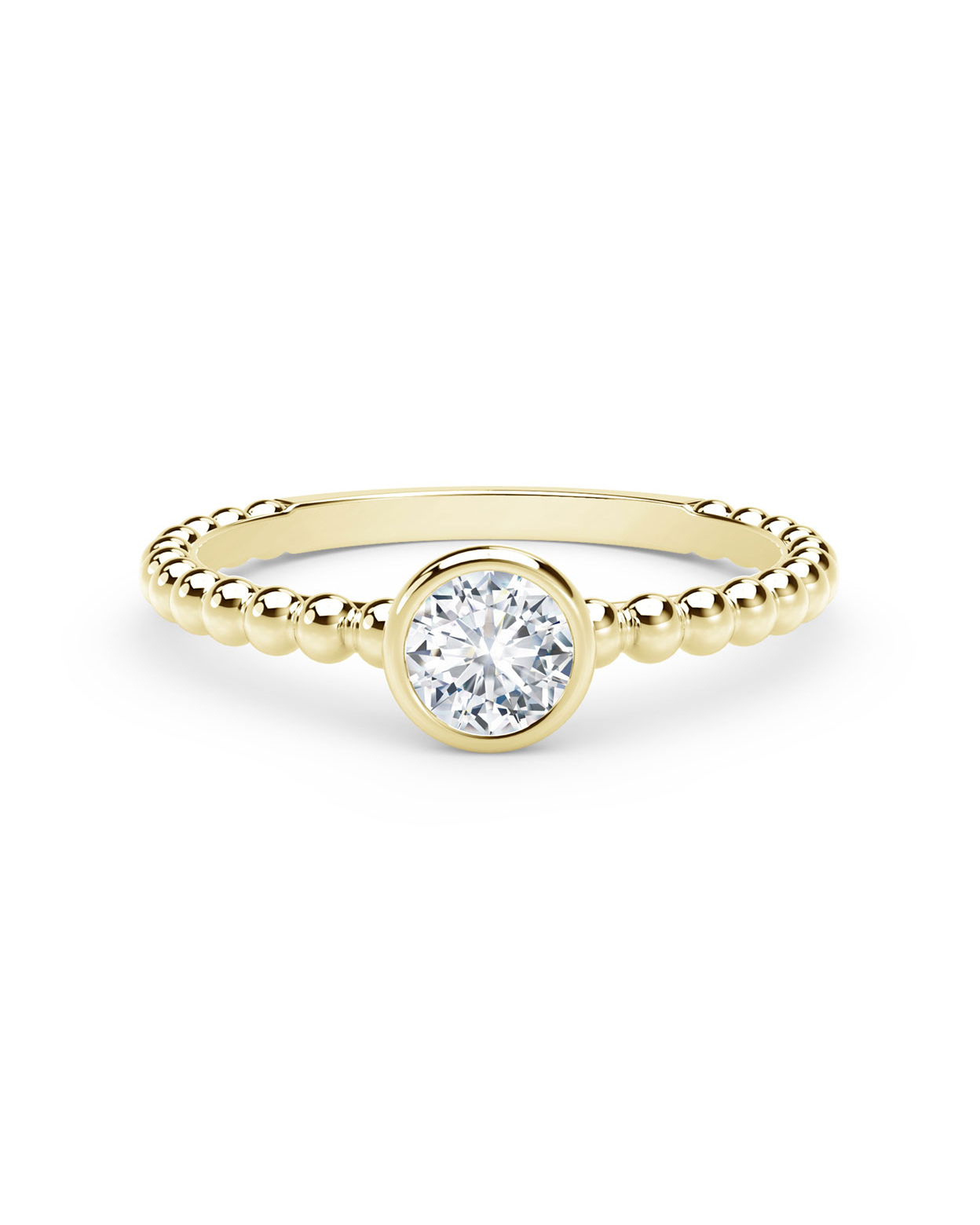 34 Yellow Gold Engagement Rings | Martha Stewart Weddings Regarding Newest Champagne And White Diamond Quilted Anniversary Rings In White Gold (View 13 of 25)