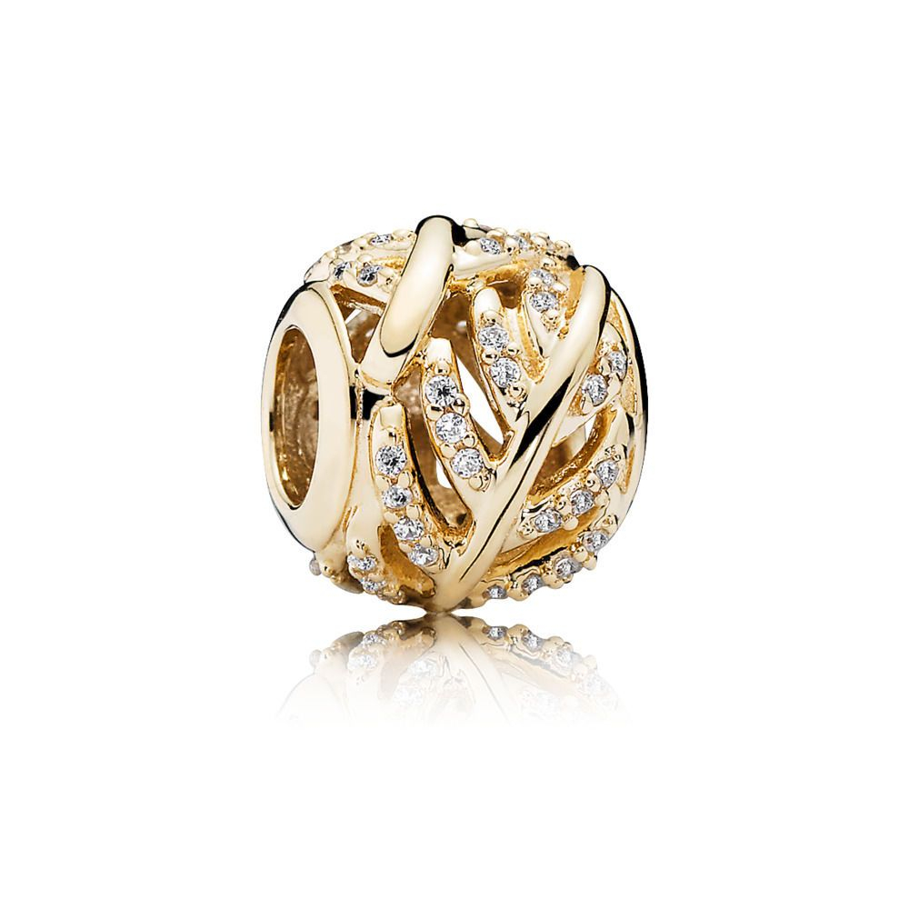 3499 Gold Shimmering Feather Charm – Pandora Hong Kong Estore With Most Up To Date Shimmering Feather Rings (View 11 of 25)