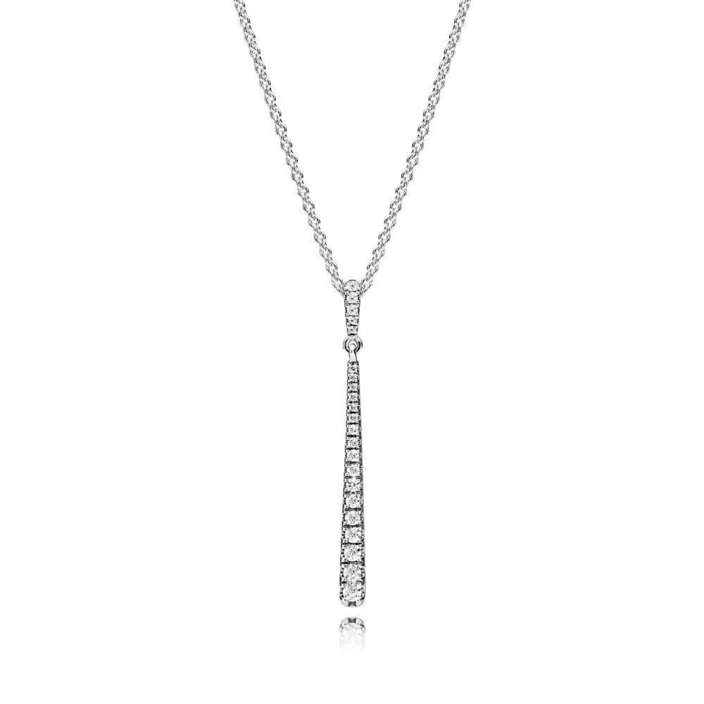 396354Cz 60 Pendant In Sterling Silver | Products | Star Necklace In Latest Sparkling Dragonfly Y  Necklaces (View 1 of 25)