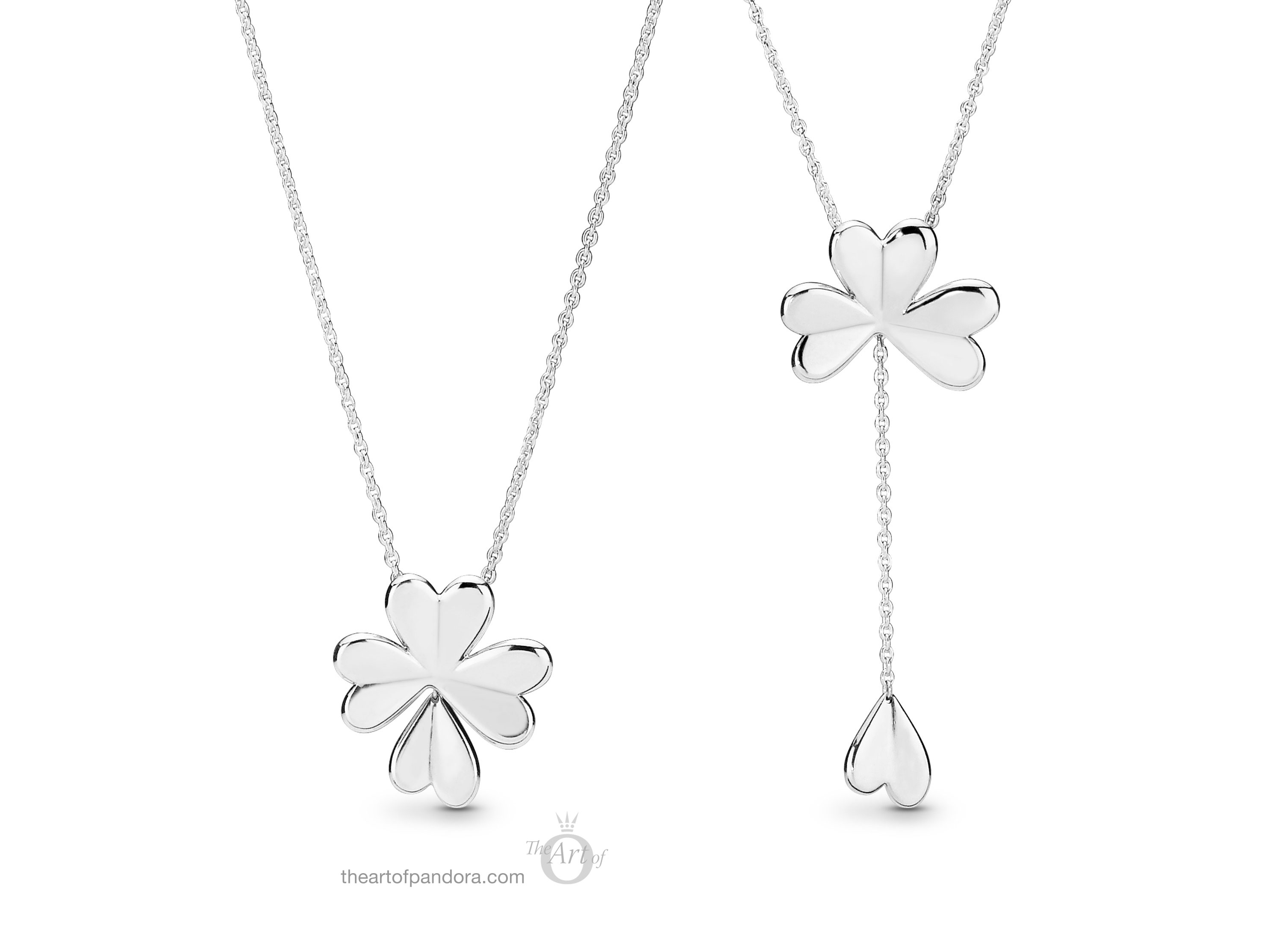 397925 Pandora Lucky Four Leaf Clover Necklace – The Art Of Pandora Throughout Newest Lucky Four Leaf Clover Pendant Necklaces (View 6 of 25)