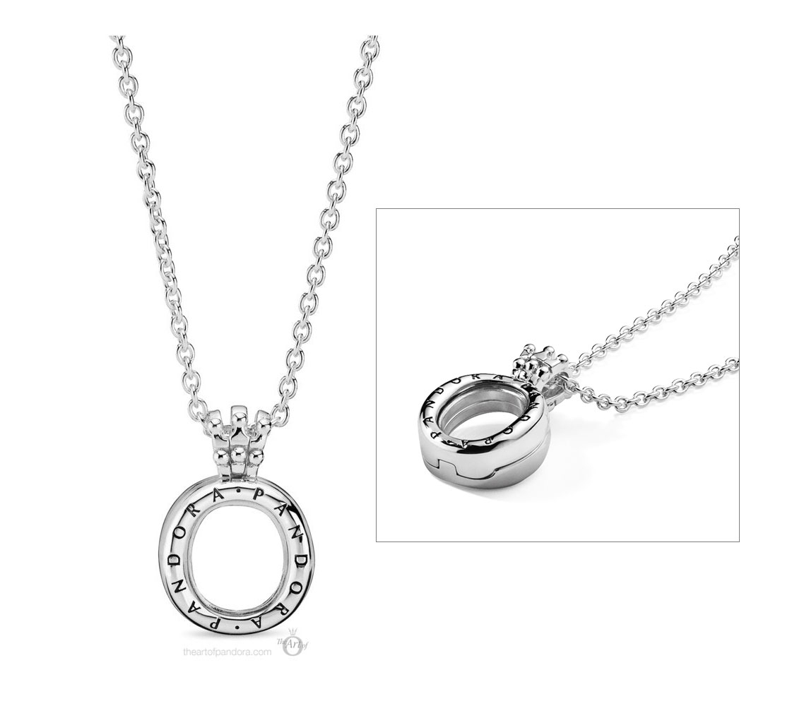 398332 60 Pandora Crown O Locket Necklace – The Art Of Pandora Intended For 2020 Crown & Interwined Hearts Pendant Necklaces (View 3 of 25)