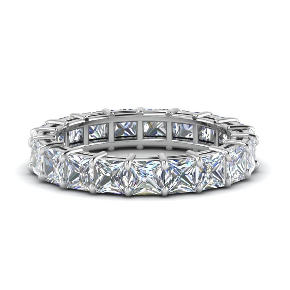 Featured Photo of Certified Princess Cut Diamond Anniversary Bands In White Gold
