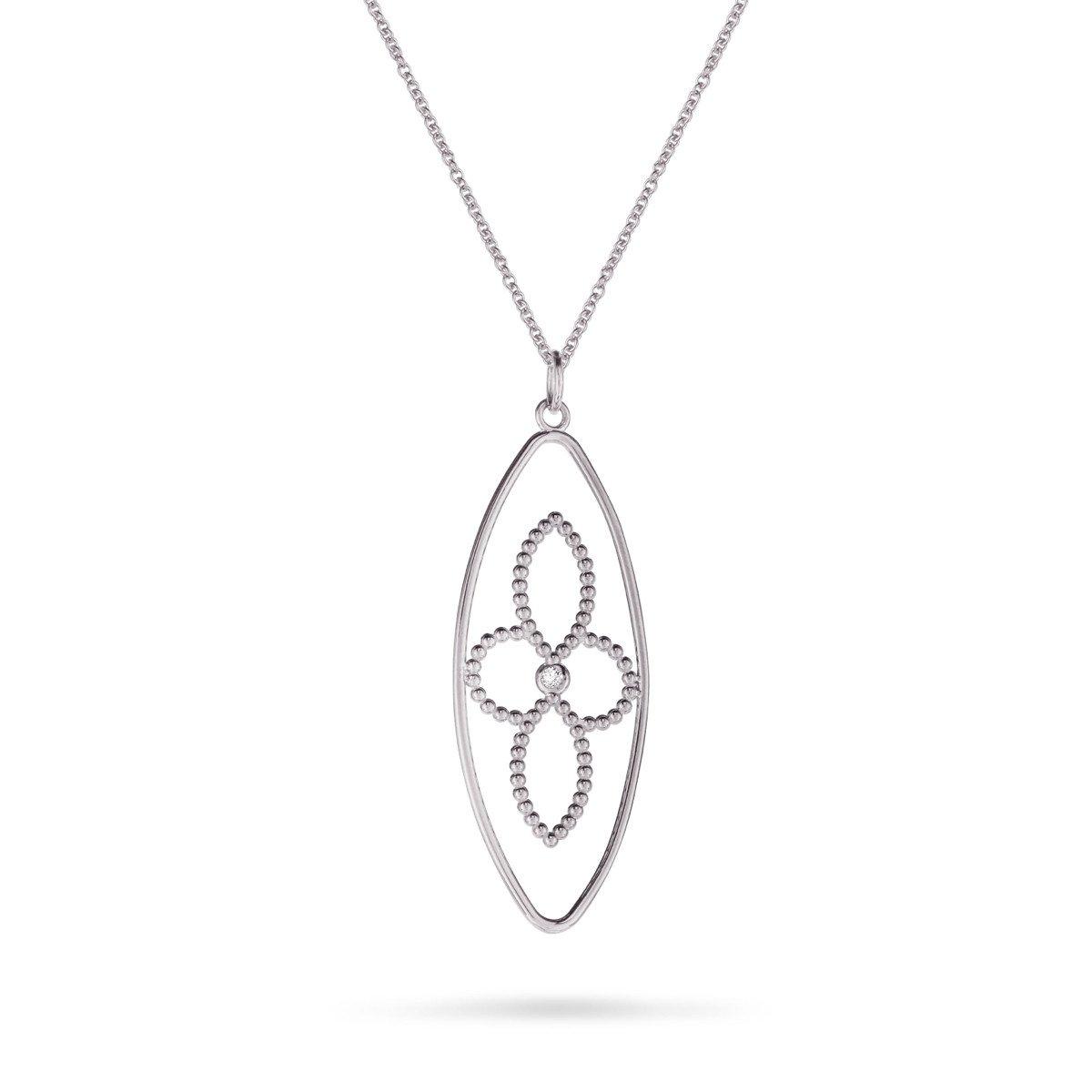 4 Petal Flower Necklace   Products In 2019   Flower Necklace, Flower Regarding Most Recent Four Petal Flower Necklaces (View 5 of 25)