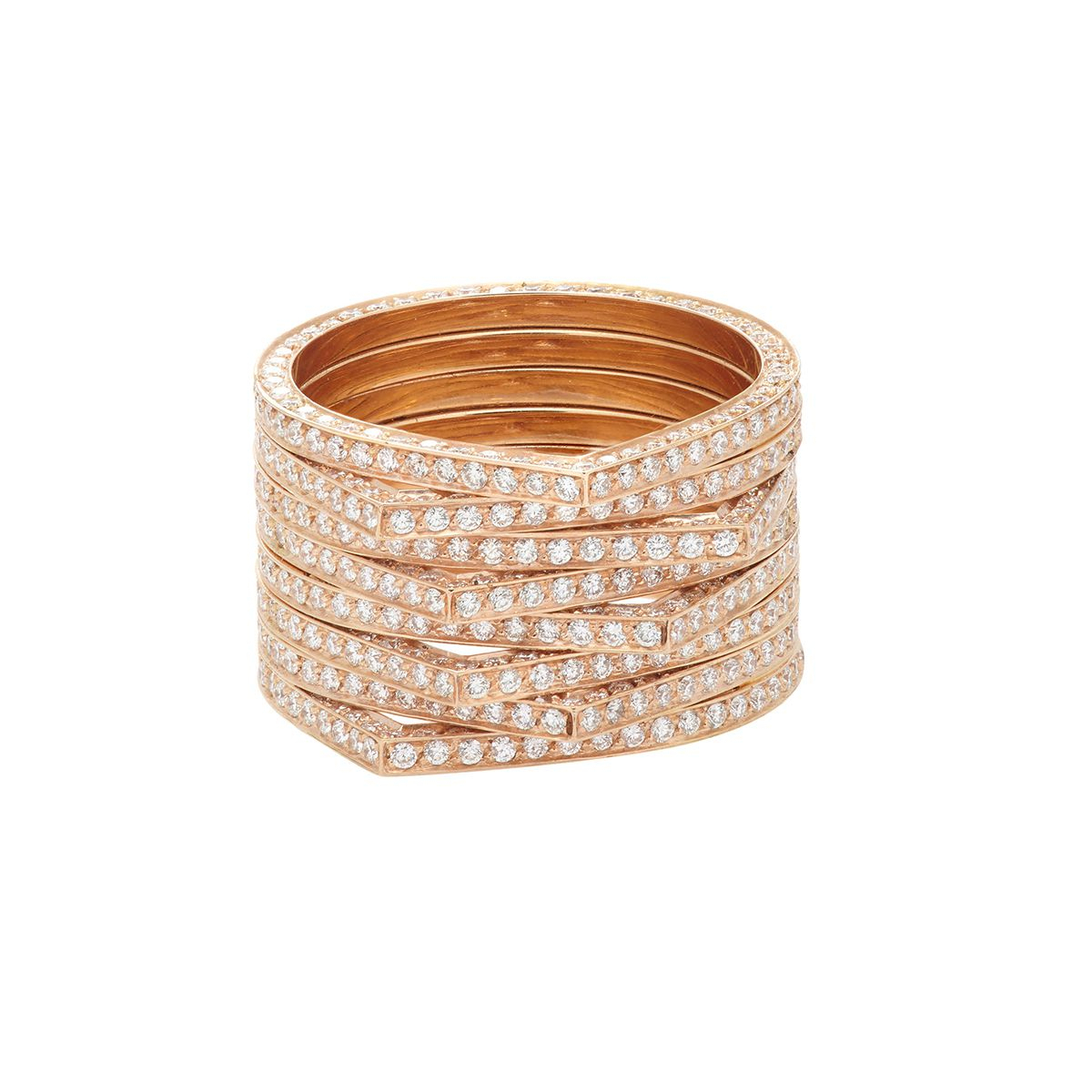 41 Unique Wedding Rings Throughout Most Recently Released Diamond Two Row Anniversary Rings In Gold (View 10 of 25)