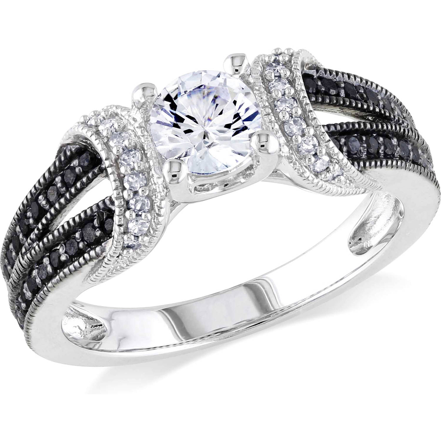5/8 Carat T.g.w. Created White Sapphire And 1/4 Carat T.w (View 7 of 25)