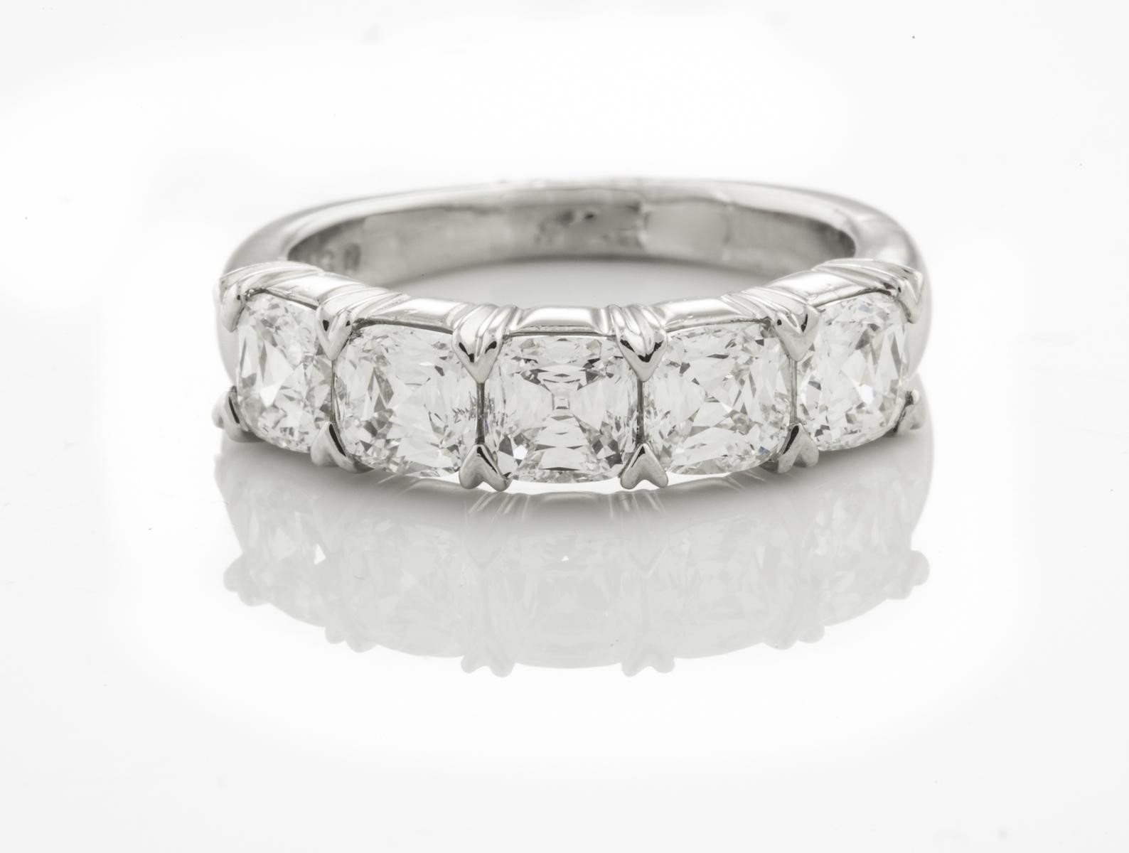 """5 Stone Crisscut Diamond Band With Regard To 2019 Diamond Five Stone """"s"""" Anniversary Bands In Sterling Silver (View 4 of 25)"""