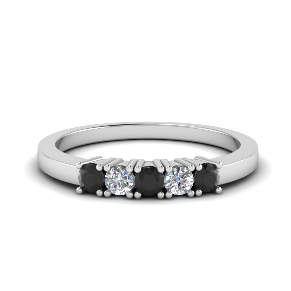 5 Stone Diamond Anniversary Band For 2019 Diamond Five Stone Anniversary Bands In White Gold (View 9 of 25)
