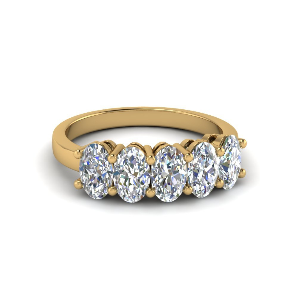 5 Stone Diamond Rings | Fascinating Diamonds Intended For Most Recently Released Diamond Five Stone Bar Set Anniversary Bands In White Gold (View 7 of 25)