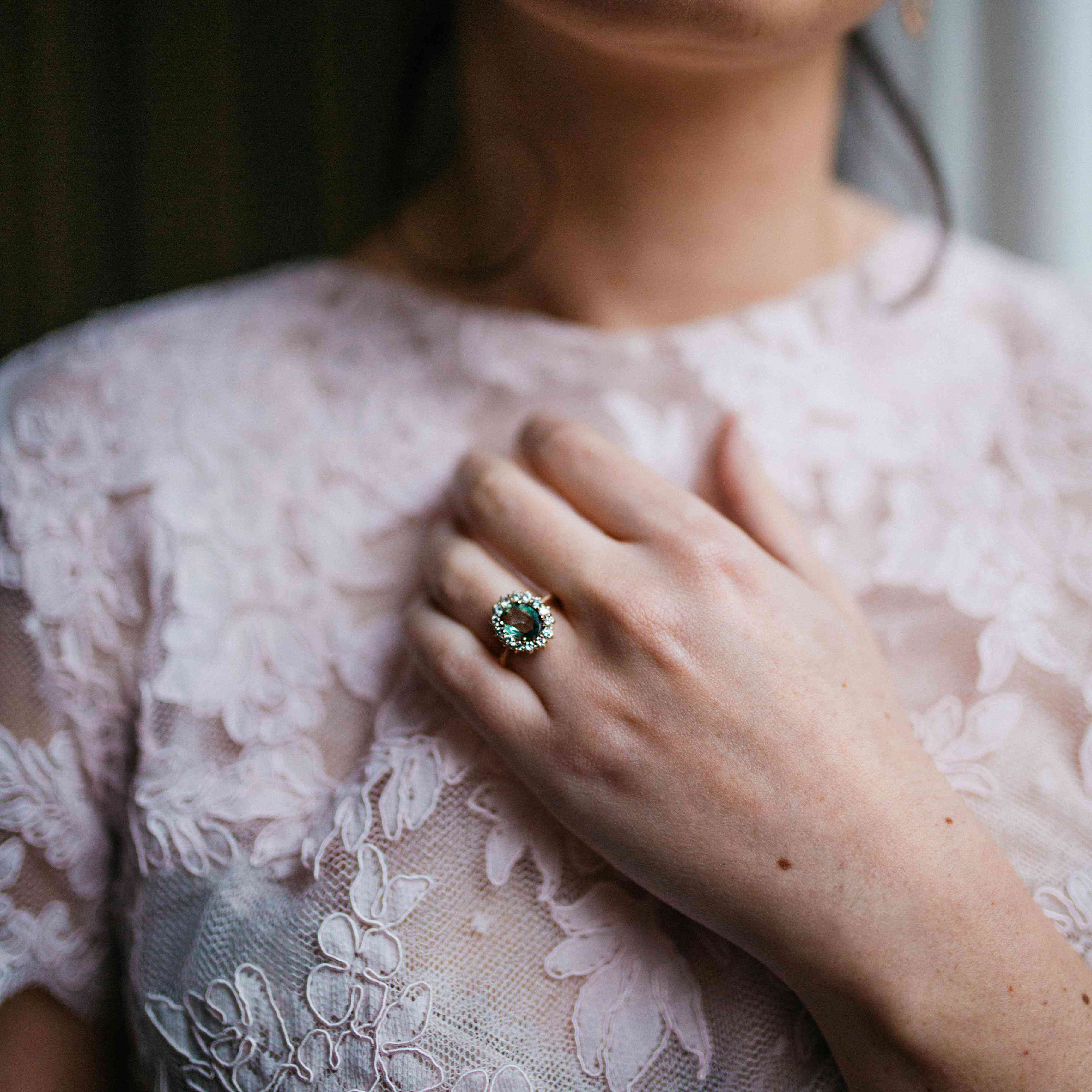 50 Beautiful Real Life Engagement Rings That Will Totally Inspire You With Regard To 2018 Simple Sparkling Band Rings (View 10 of 25)