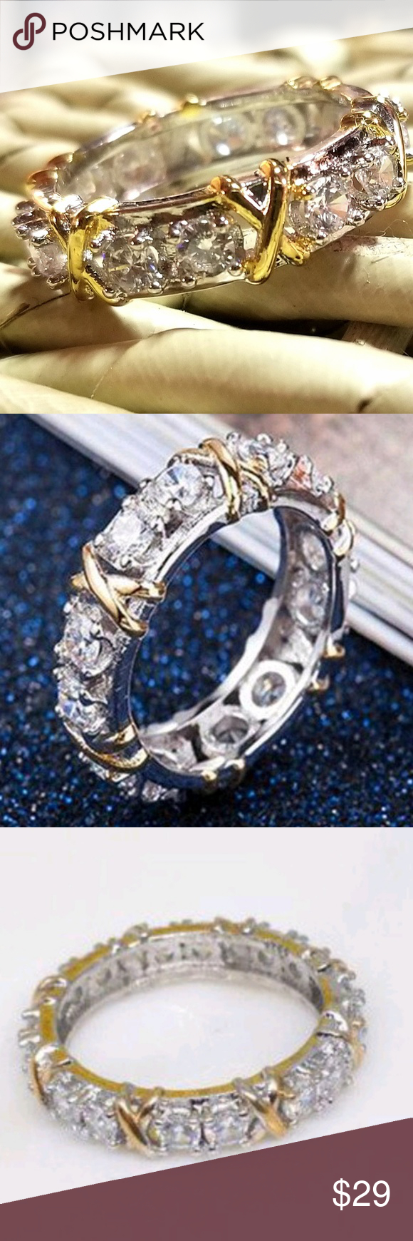 6 Ctw Clear Topaz Olive Crown Ring Nwt Genuine Sparkling Clear Topaz Pertaining To Most Current Clear Sparkling Crown Rings (View 1 of 25)