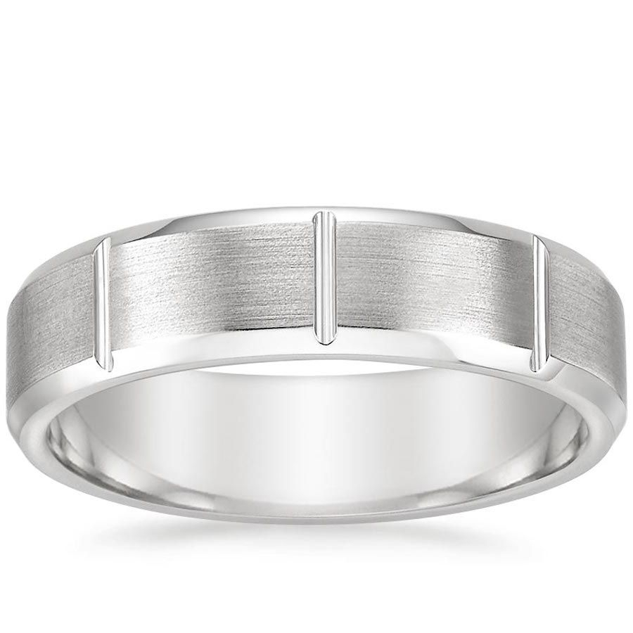 60 Unique Men's Wedding Bands And Rings From Classic To Modern Within Most Recent Diamond Braid Anniversary Bands In White Gold (View 8 of 25)