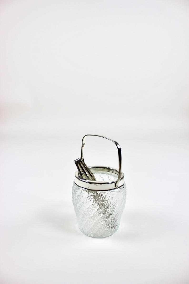 60s Ice Cube Container, Ice Cooler Silver Plated, Ice Bucket, Retro Bareware Silver, Vintage Gift, Germany In Most Up To Date Sparkling Ice Cube Rings (View 16 of 25)