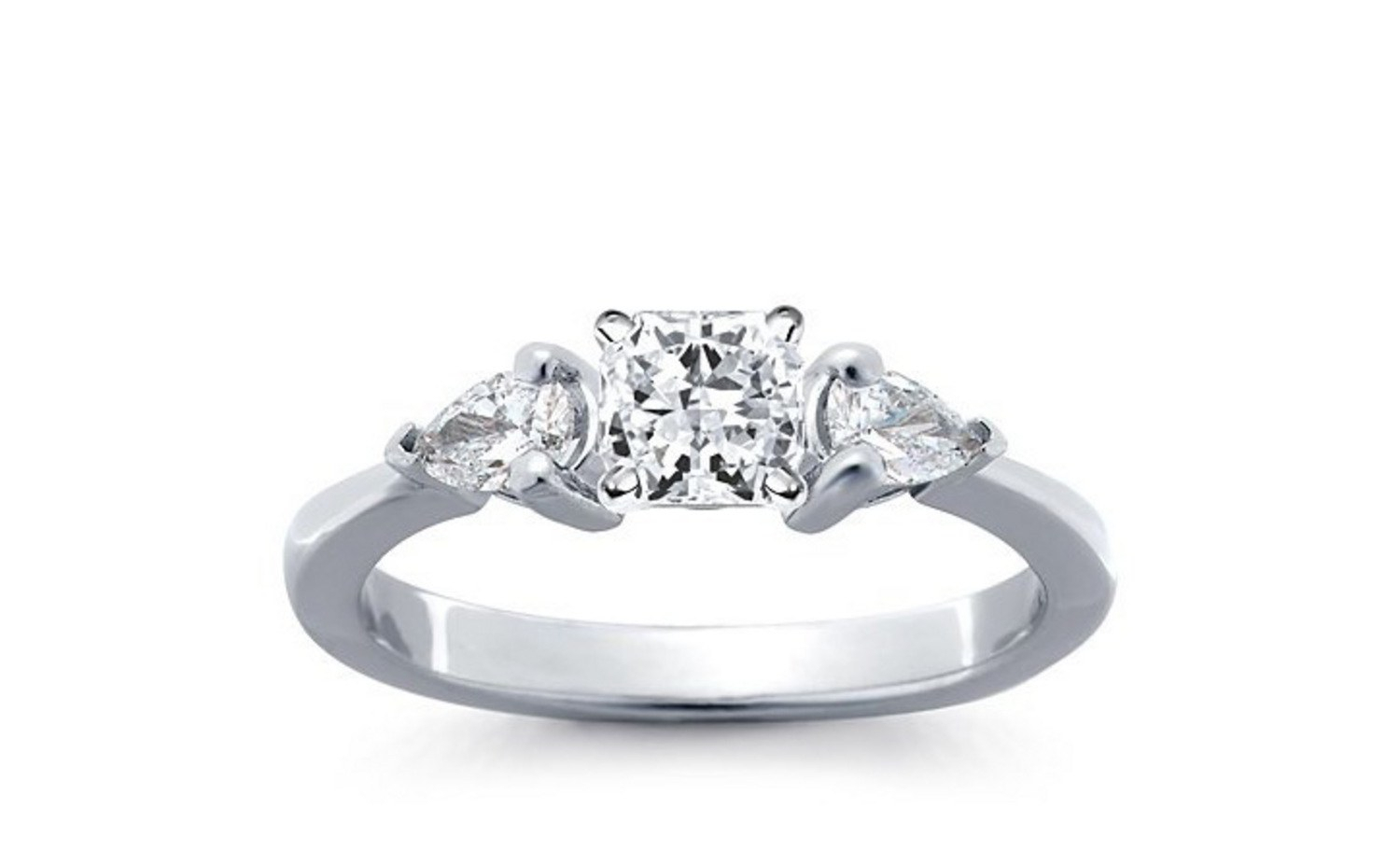 62 Diamond Engagement Rings Under $5,000 | Glamour Throughout Most Current Princess Cut And Round Diamond Anniversary Bands In White Gold (View 8 of 25)