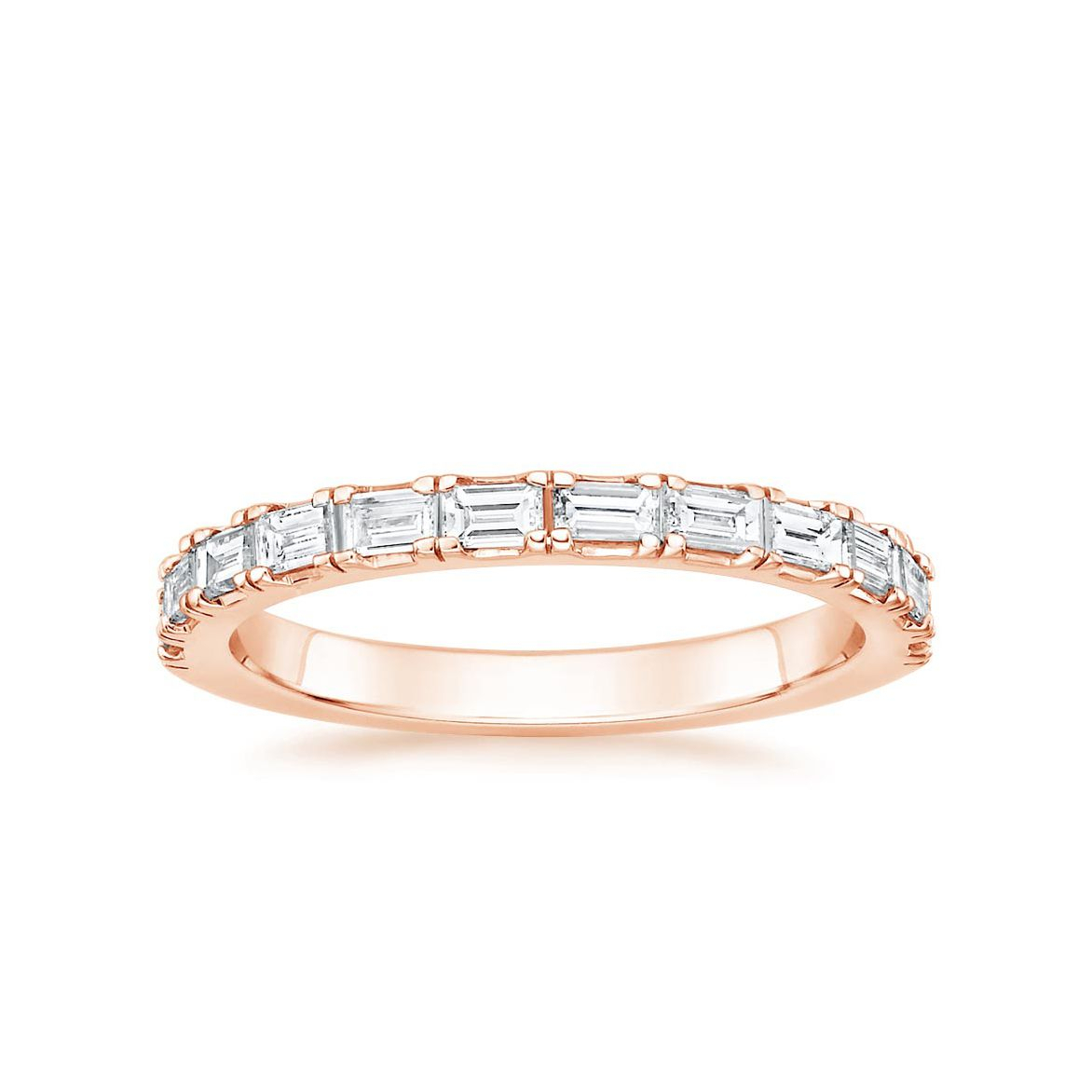 62 Extraordinary Baguette Wedding Bands For Every Style Inside Most Recently Released Diamond Slant Anniversary Bands In White Gold (View 15 of 25)