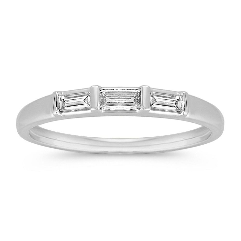 62 Extraordinary Baguette Wedding Bands For Every Style Within Current Diamond Four Row Anniversary Bands In White Gold (View 11 of 25)