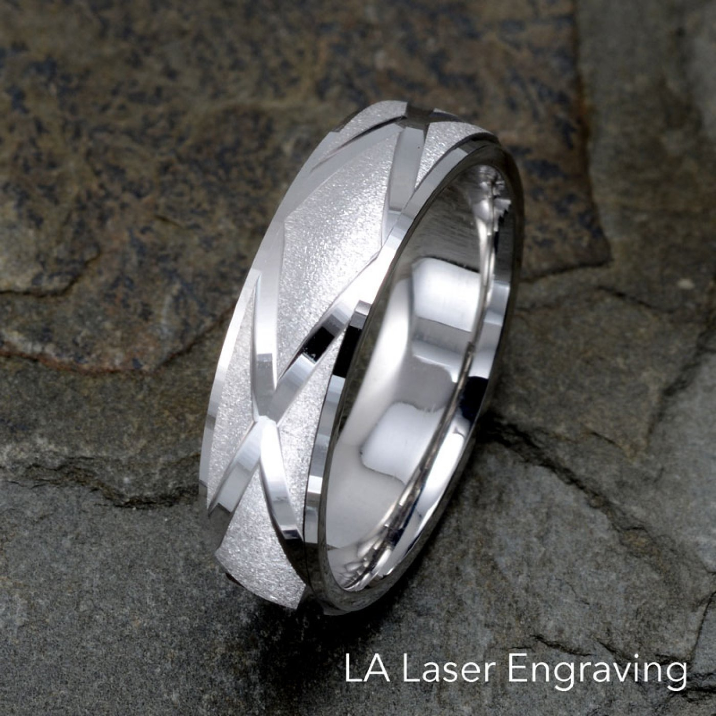 6mm Gold Brushed Wedding Band, Zigzag Grooved Pertaining To Recent Polished Zigzag Rings (View 7 of 25)