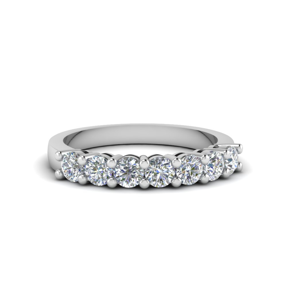 Featured Photo of Diamond Five Stone Swirl Anniversary Bands In White Gold