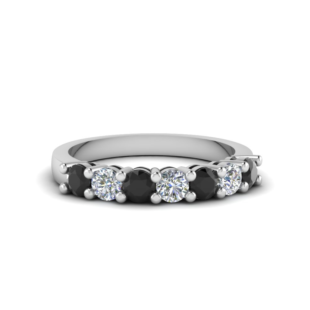 7 Stone Anniversary Diamond Band For Current Diamond Seven Stone Anniversary Bands In White Gold (View 7 of 25)