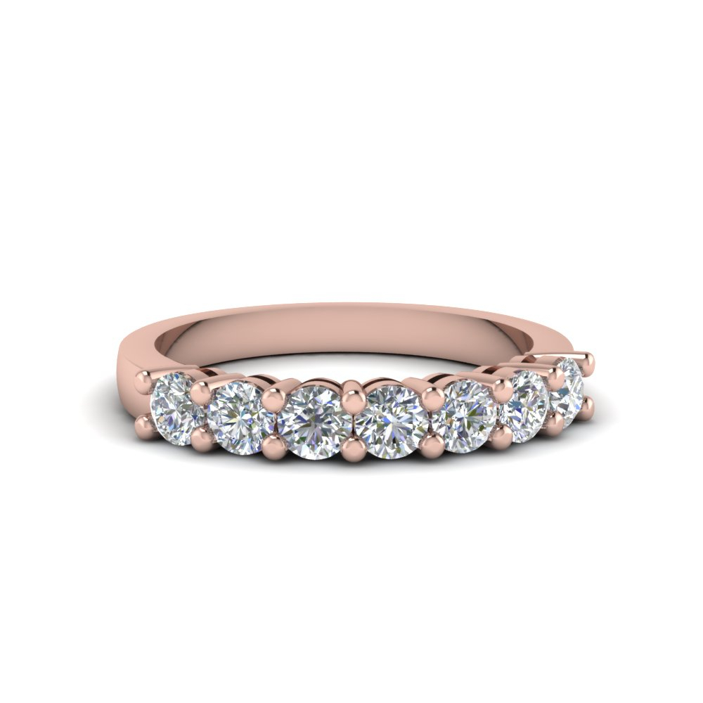 7 Stone Anniversary Diamond Band In 2020 Diamond Anniversary Bands In Rose Gold (Gallery 1 of 25)