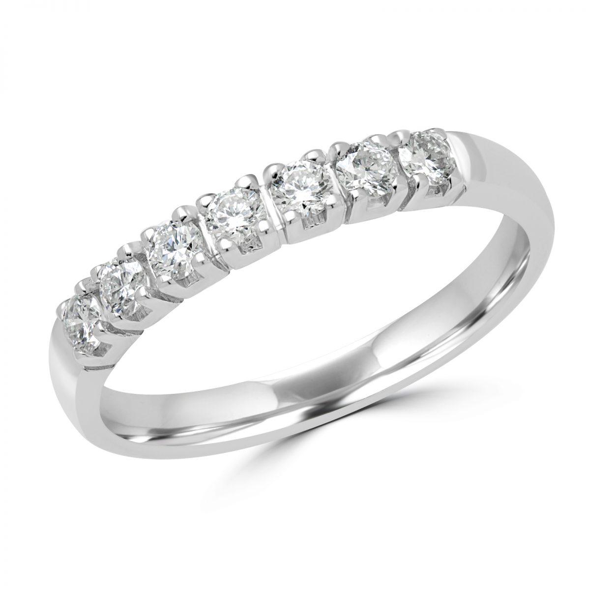 7 Stone Anniversary Semi Eternity Ring (View 8 of 25)