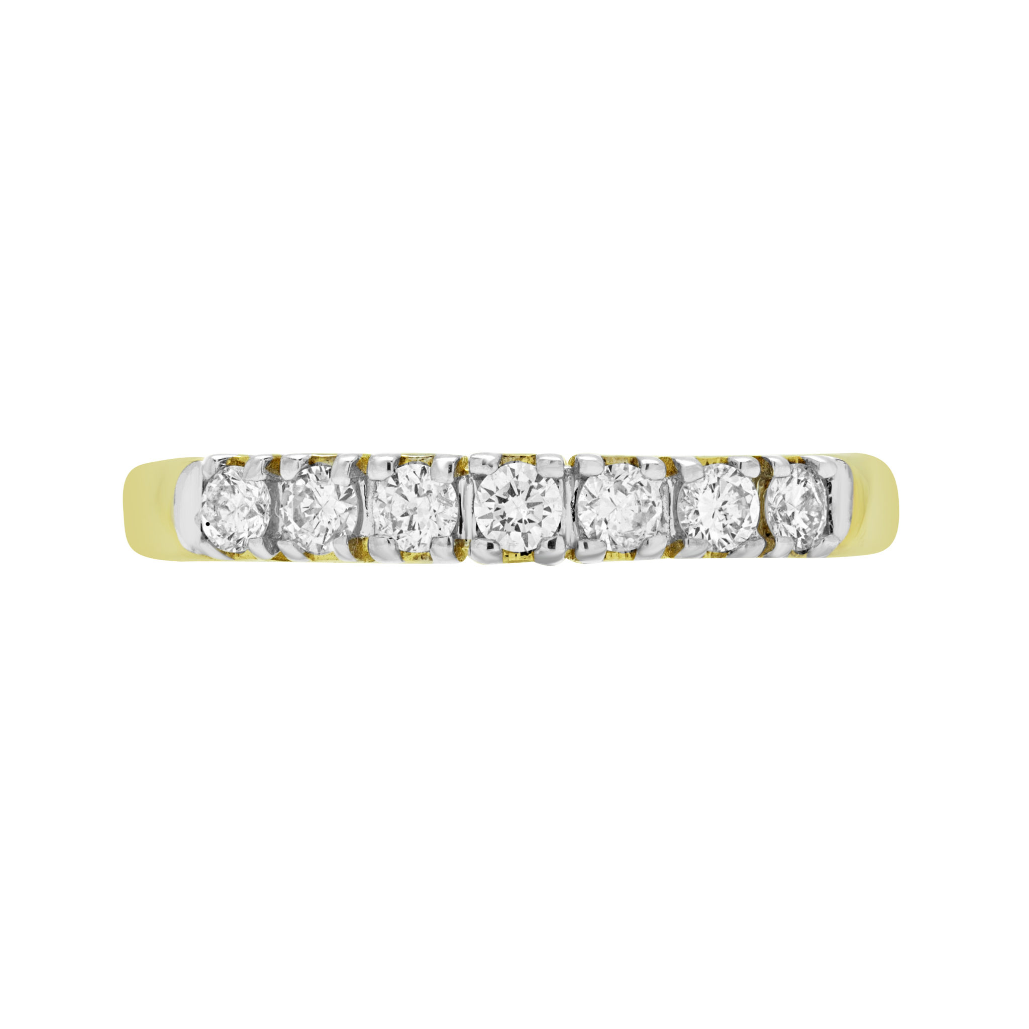 7 Stone Anniversary Semi Eternity Ring 0.32 (Ctw) In 14K Yellow Gold With Most Recent Diamond Seven Stone Anniversary Bands In Gold (Gallery 25 of 25)