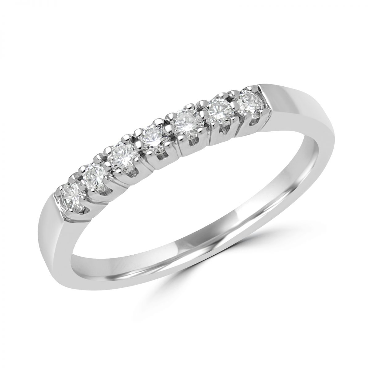 7 Stone Diamond Anniversary Band In White Gold Inside Most Popular Diamond Seven Stone Anniversary Bands In Gold (View 10 of 25)