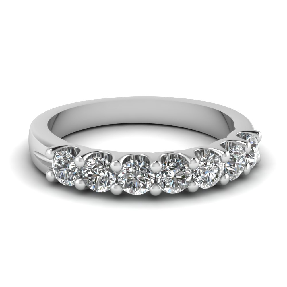 7 Stone Diamond Anniversary Band Within Current Diamond Seven Stone Anniversary Bands In White Gold (Gallery 2 of 25)