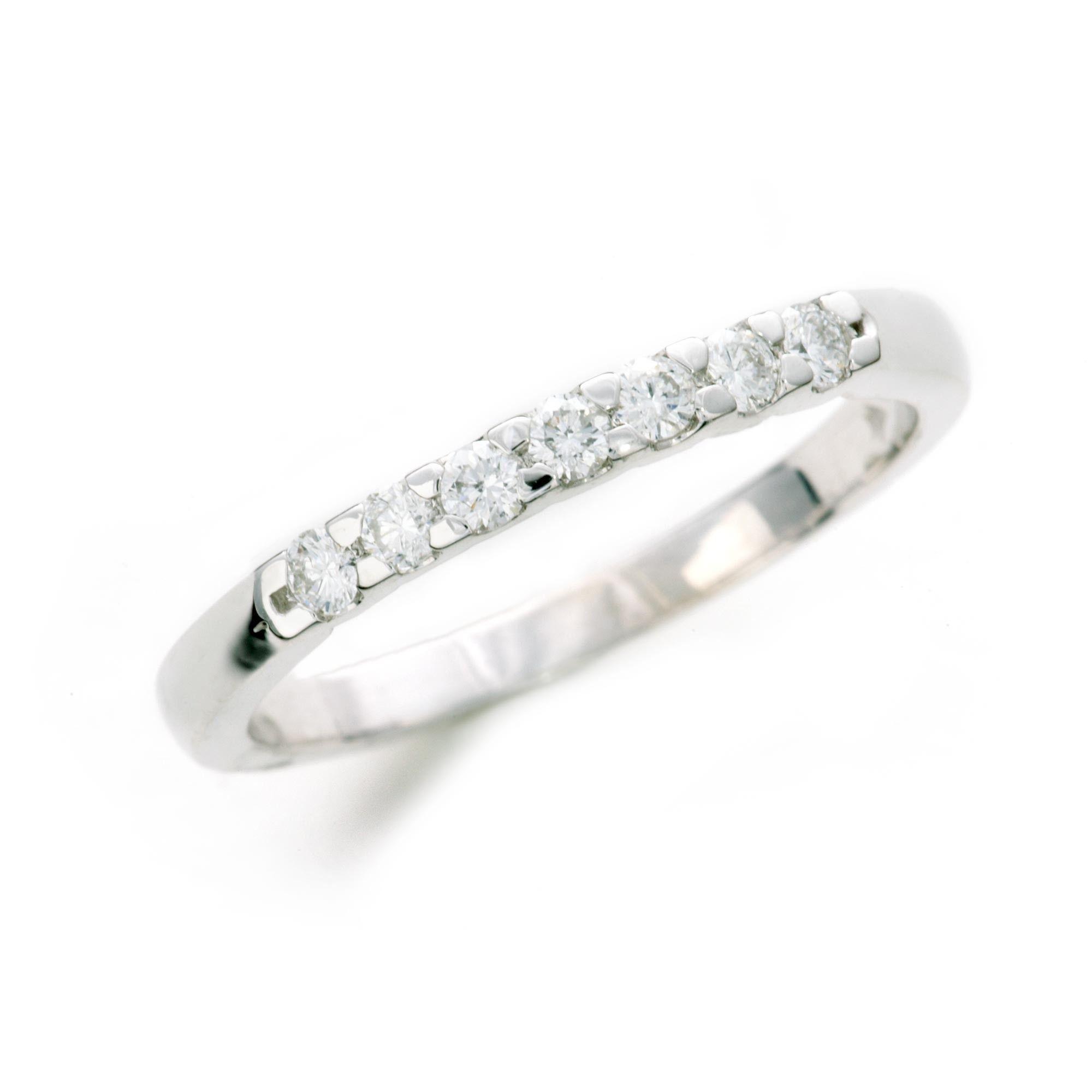7 Stone Diamond Anniversary Ring In 14K White Gold Throughout Newest Diamond Seven Stone Anniversary Ring In White Gold (Gallery 20 of 25)