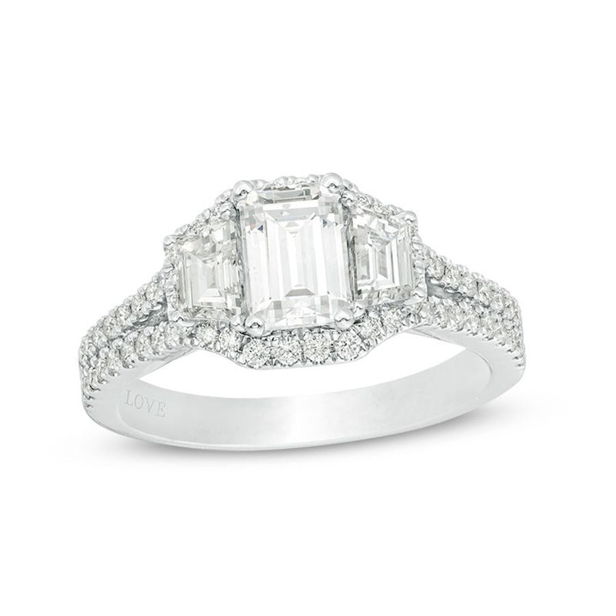 75 Stunning Three Stone Engagement Rings For Every Style For Best And Newest Vera Wang Love Collection Diamond Two Row Anniversary Bands In White Gold (View 18 of 25)