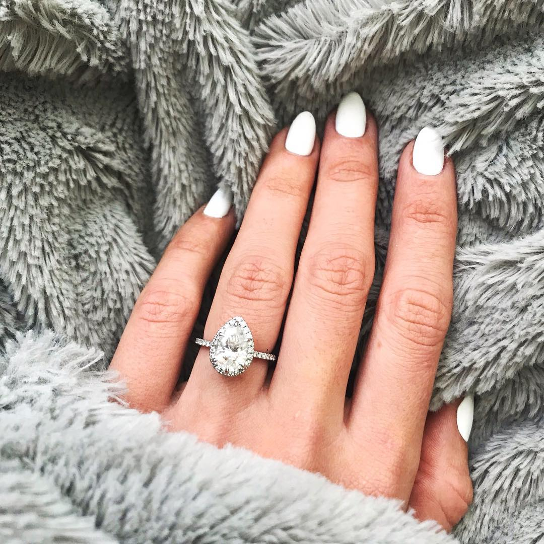 9 Most Loved Halo Engagement Rings On Instagram | Brilliant Earth Within 2018 Sparkling Twisted Lines Rings (View 11 of 25)
