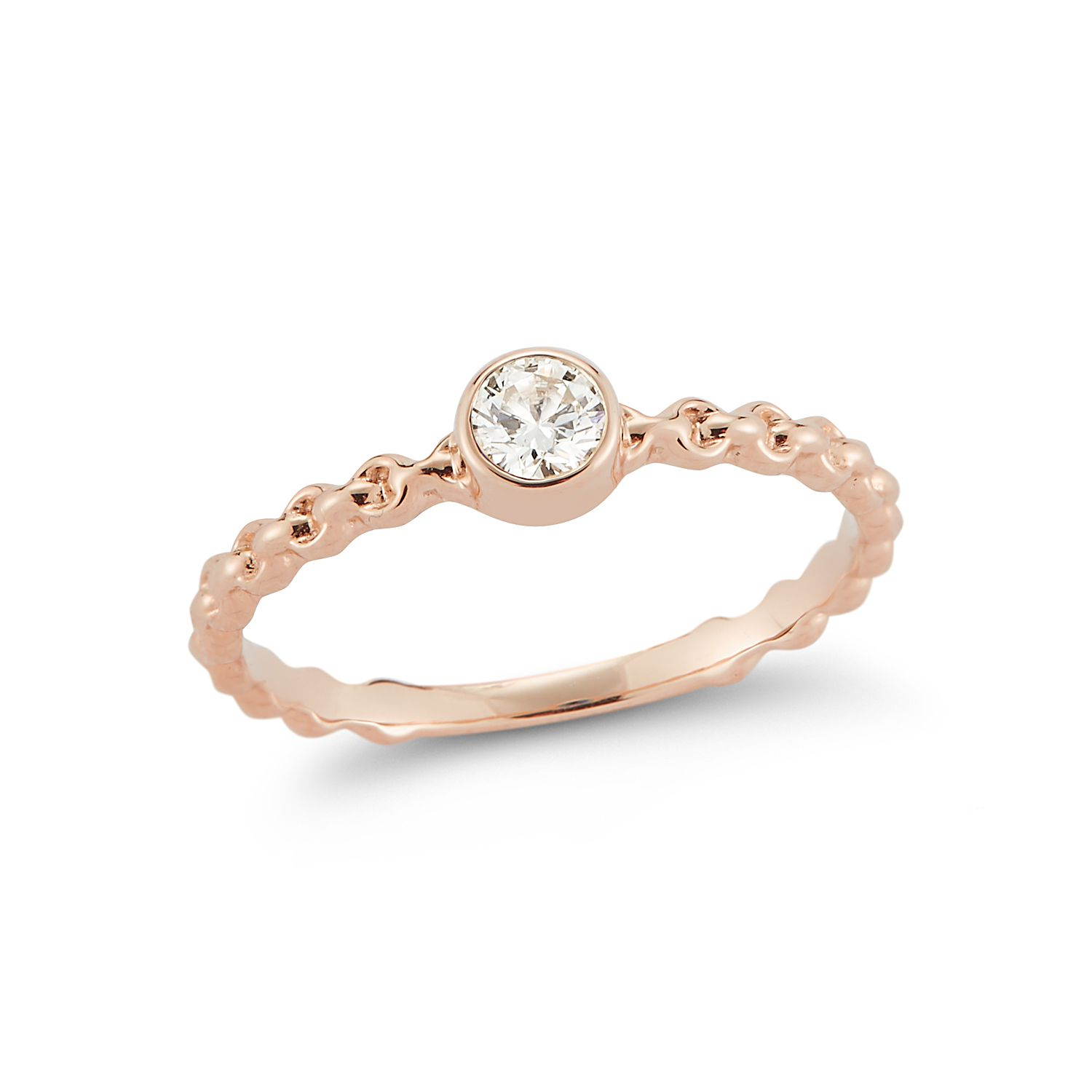 92 Rose Gold Engagement Rings For Every Bridal Style Throughout Most Current Champagne And White Diamond Quilted Anniversary Rings In White Gold (View 17 of 25)