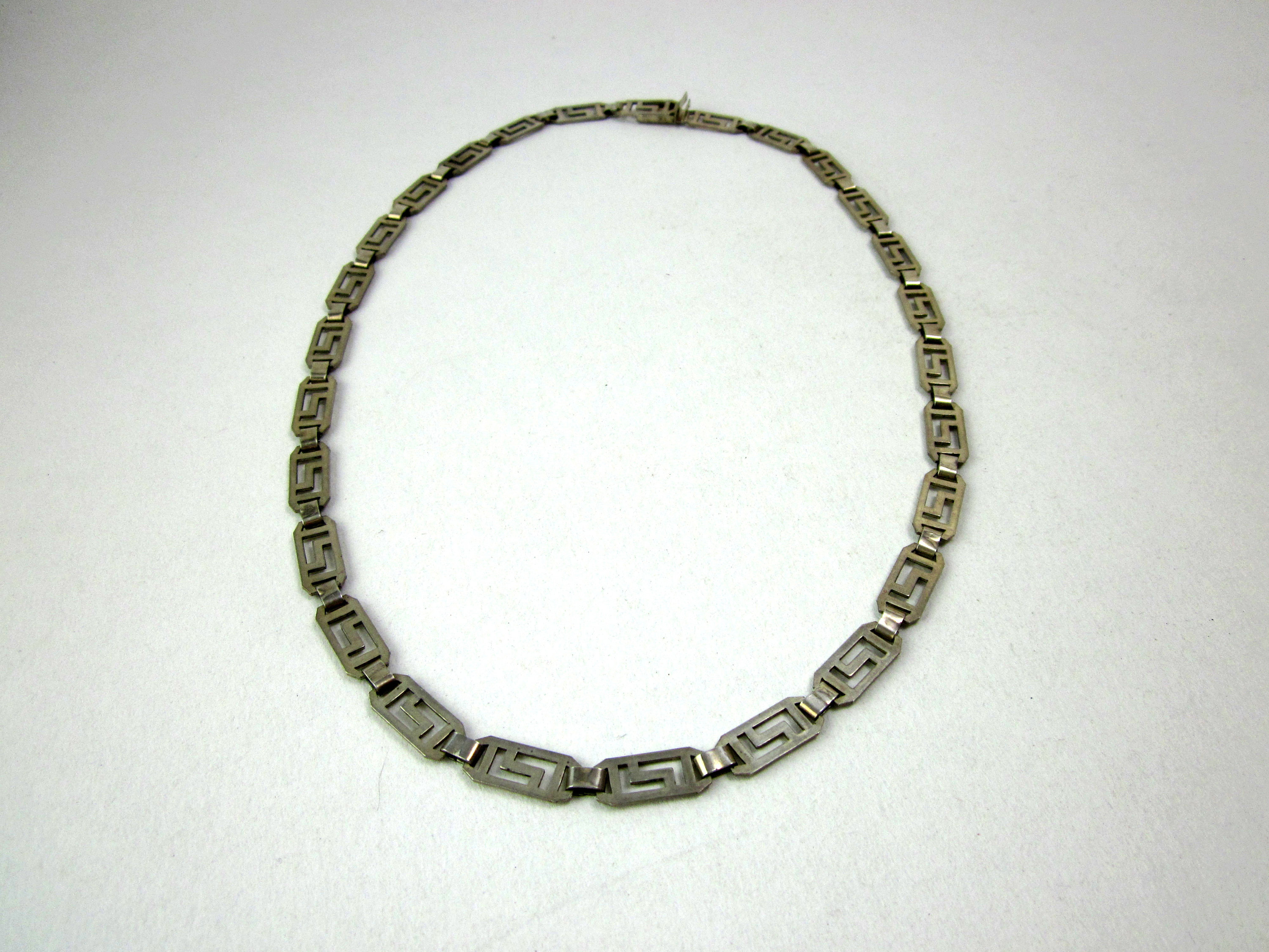 925 Silver Cline Chain, Collier, Necklace, Vintage Jewelry Necklace, Gift In Most Current Vintage Circle Collier Necklaces (View 8 of 25)