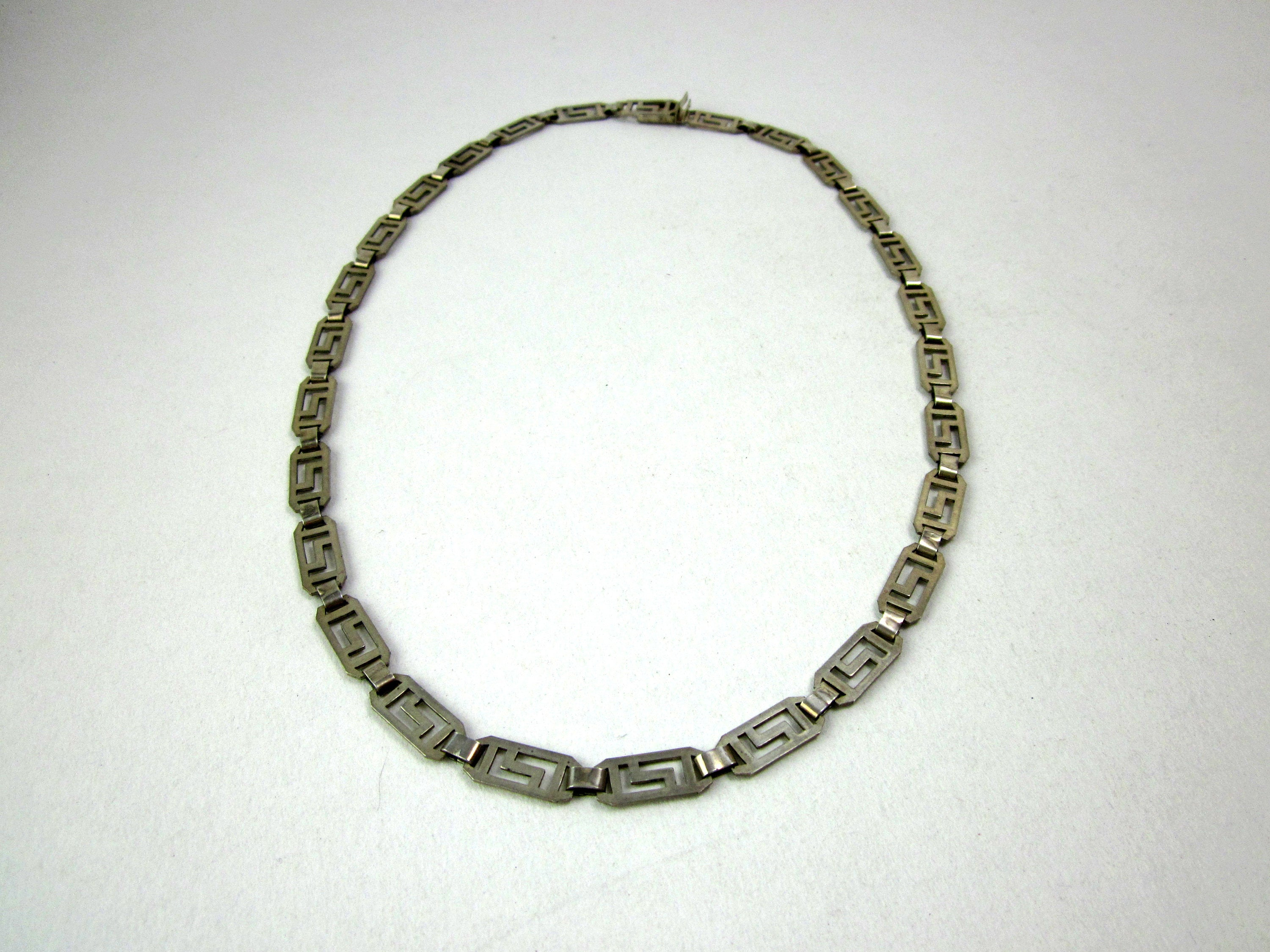 925 Silver Cline Chain, Collier, Necklace, Vintage Jewelry Necklace, Gift With Regard To Most Current Vintage Circle Collier Necklaces (View 4 of 25)