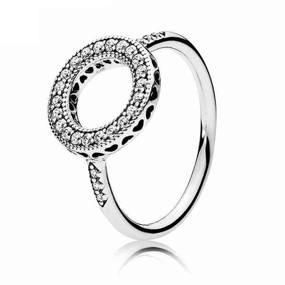 925 Silver Ring For Women Hearts Of Halo Linked Love Ring Enchanted Crown Ring Sparkling Clear Cz Girl Gift Fit Lady Jewelry Within Latest Clear Sparkling Crown Rings (View 9 of 25)